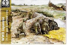 Waterloo 1815/HAT WWII Japanese 70mm Gun, Anti-Tank Crew 1/72 HTI 103 ST