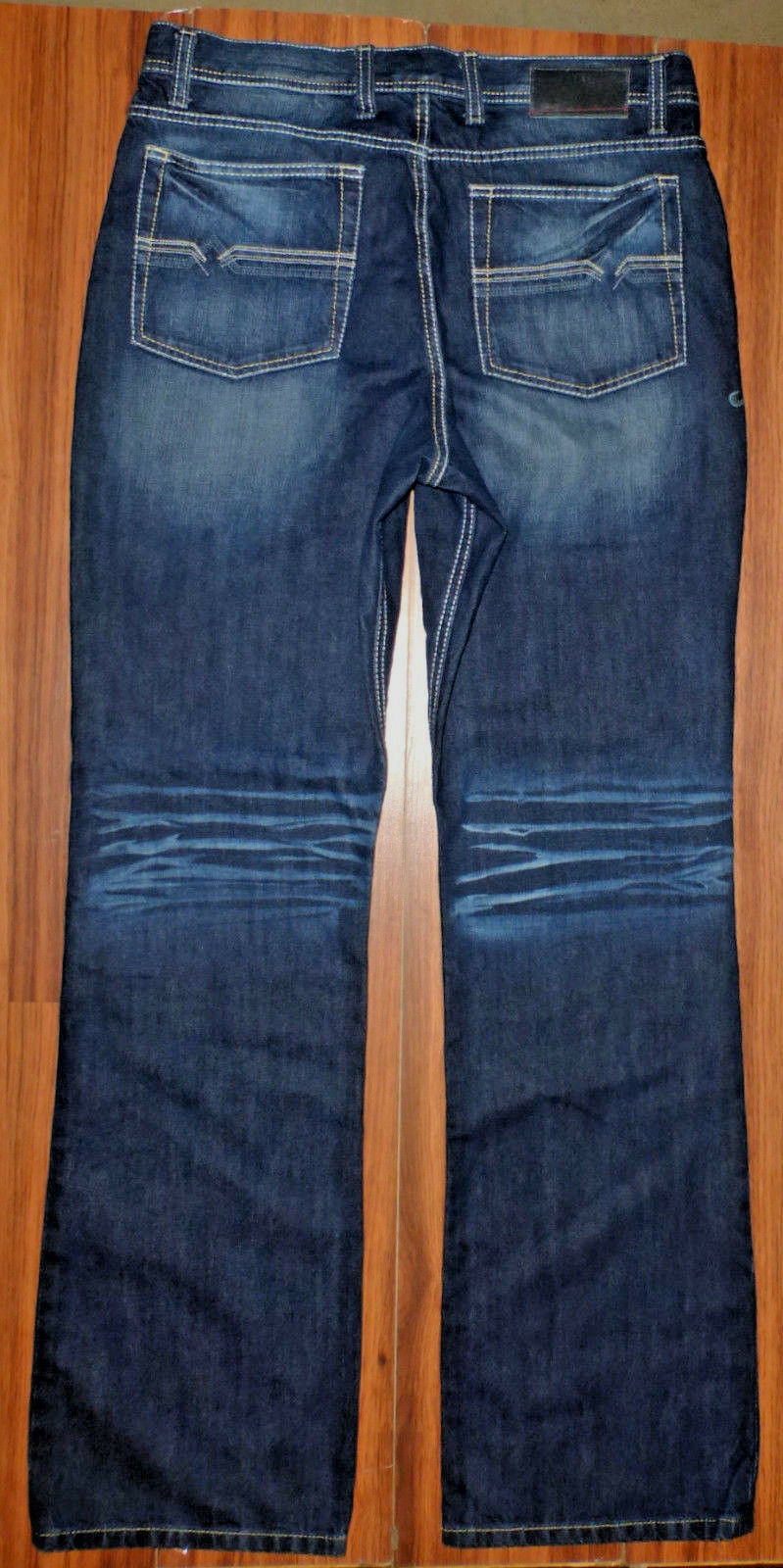 35c77699 NEW MENS SOUTHERN THREAD THE TRENT DARK WASH BOOTCUT JEANS SIZE 36XL 36X37