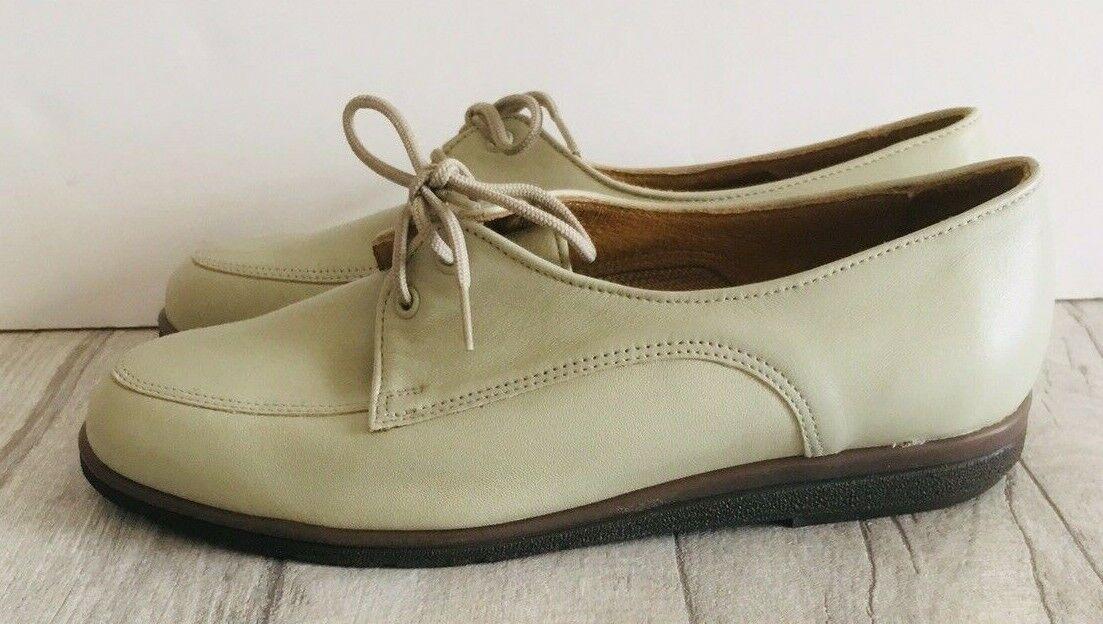 Womens Scholl Soft Step shoes Size 4.5 Laces Cream Excellent Condition Comfort