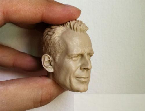Bruce Willis Testa modello 1//6 SCALA NON VERNICIATA MASCHIO Action Figure accessori