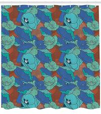 neutrale Farbe DuschVorhang Pastell Retro Floral Gardinen inkl 12 Ringe