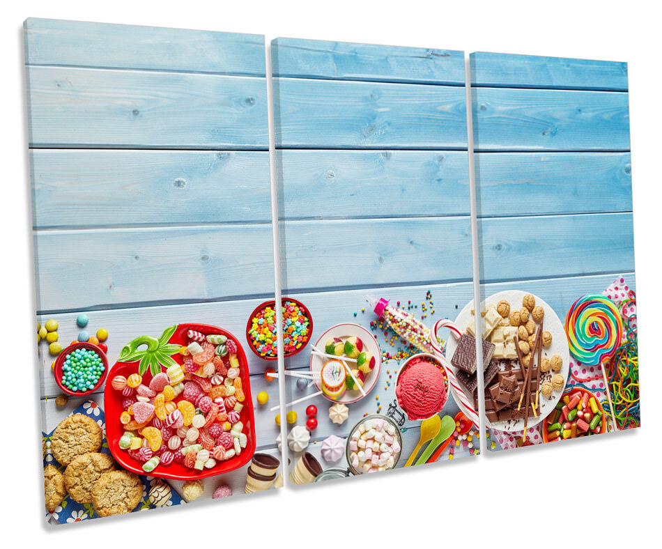Candy Sweets Kitchen Kitchen Kitchen Picture TREBLE CANVAS WALL ART Print fe5aff