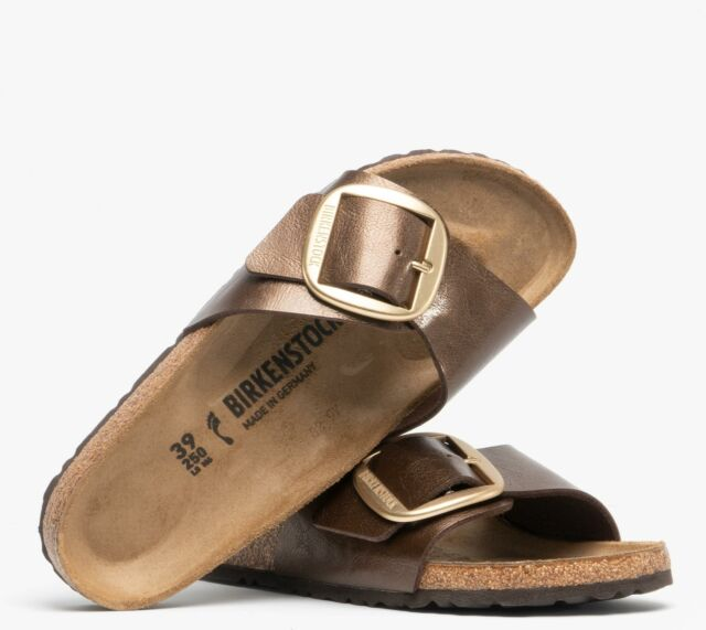 Birkenstock MADRID 1015313 (Nar) Ladies Birko Flor Strap Sandals Graceful Toffee