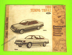 image is loading 1986-ford-tempo-mercury-topaz-electrical-vacuum-wiring-
