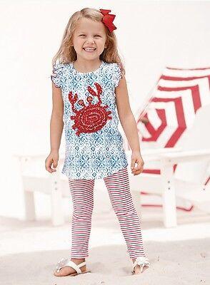Mud Pie Boathouse Baby Crab Tunic And Legging Set