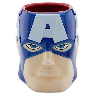 disney store ceramic marvel captain america sculptured coffee mug new
