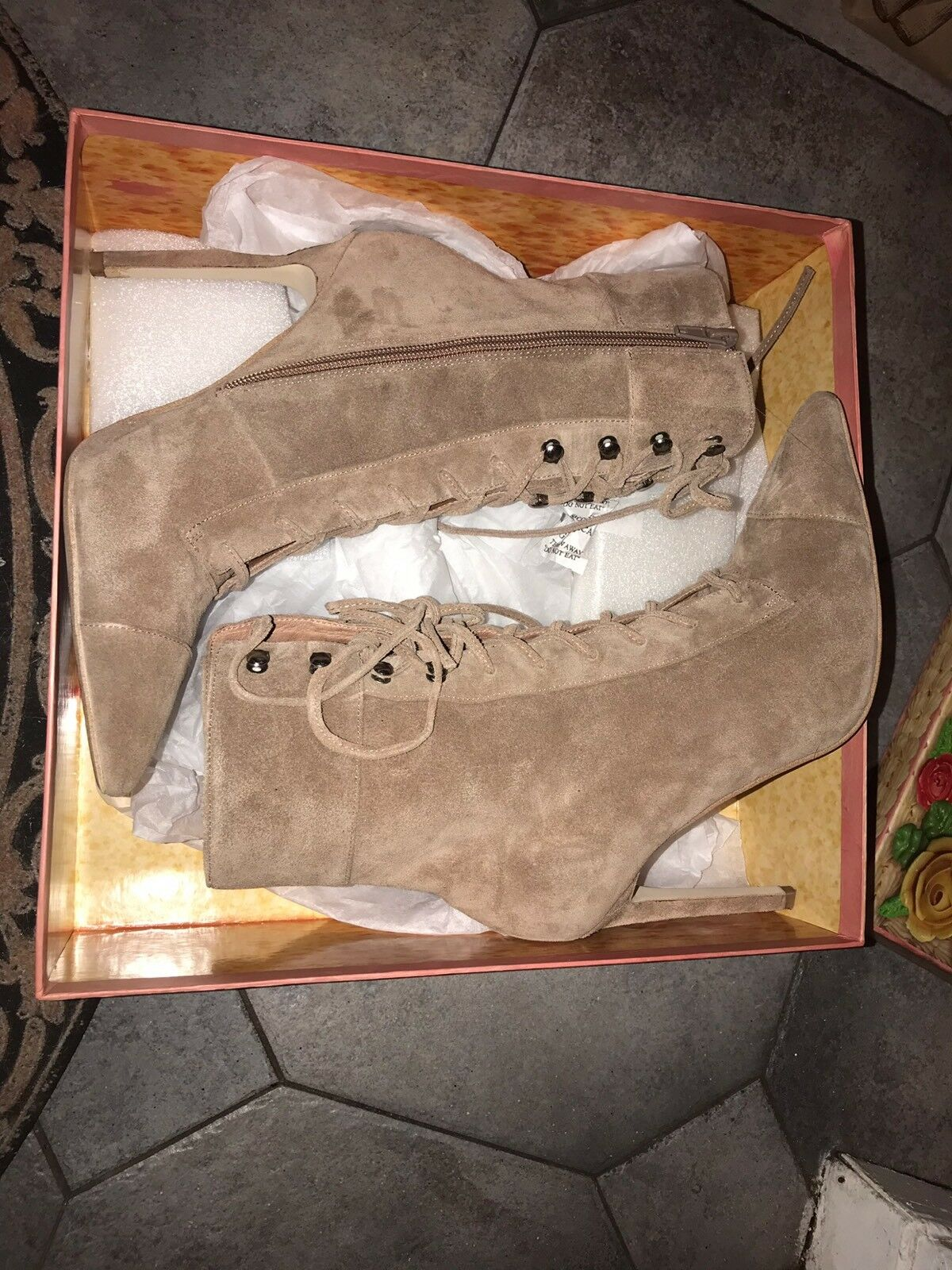 Jeffrey campbell Genuine Suede Suede Suede Leather Ankle Bootie e80f31