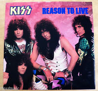 45 Rpm 12 Ep Record Kiss Reason To Live 4-songs Old Stock W/ Picture Sleeve