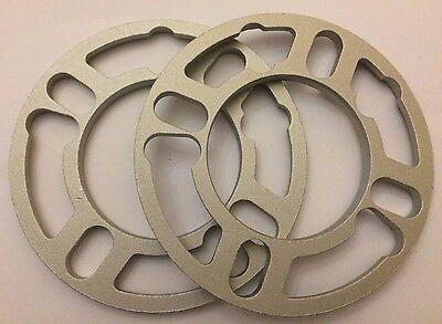 2 X 7mm Shims Spacer Universal Alloy Wheels Spacers Fits Alfa 4 5 Stud 58.1 Wohltuend FüR Das Sperma