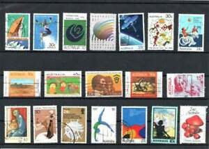 100-Australia-COMMEMORATIVE-stamps-colorful-all-different