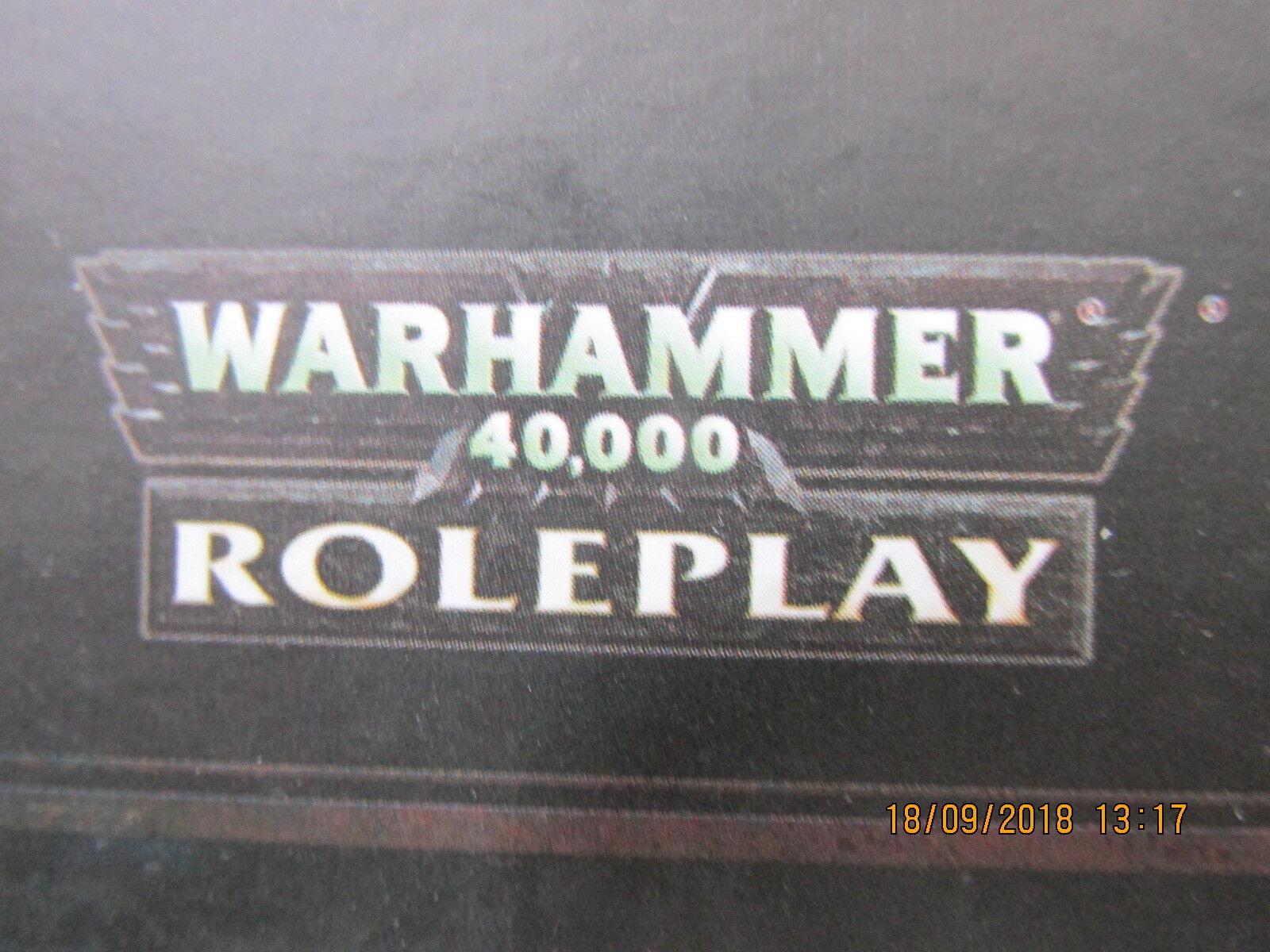 WARHAMMER 40,000 CREATURES ANATHEMA DARK HERESY  RPG VGC HB HC VGC