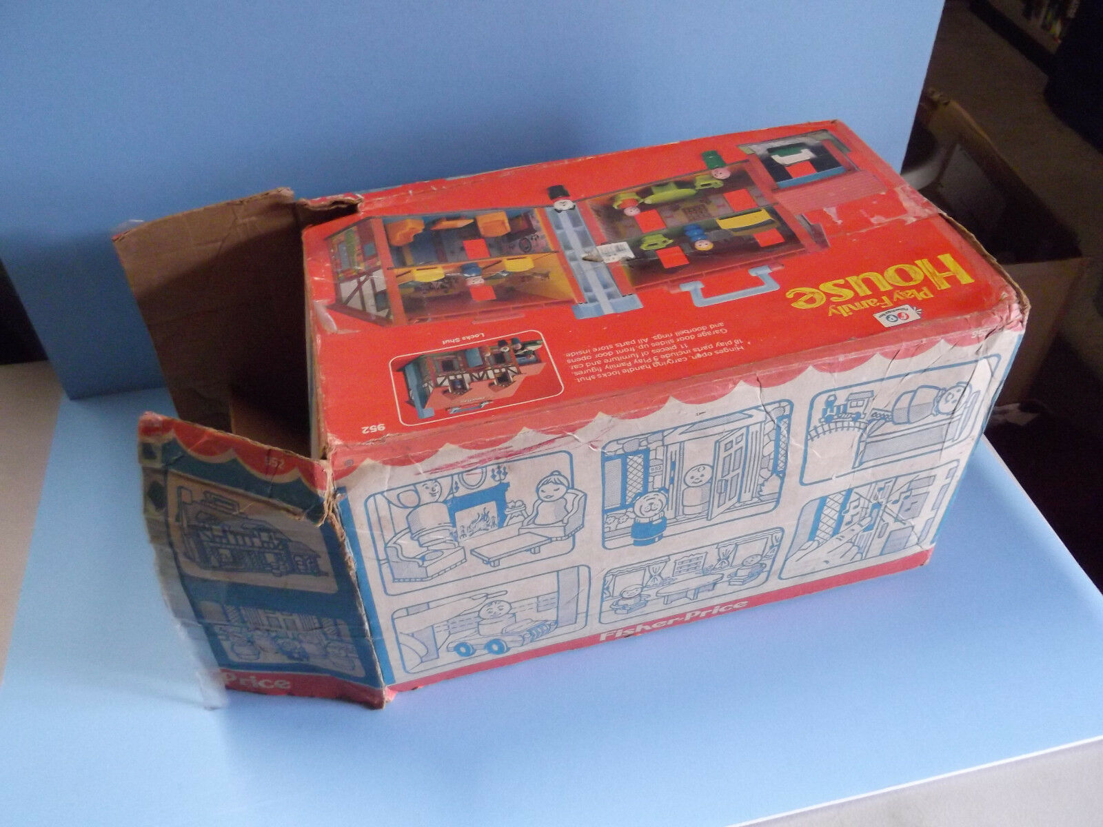 Vintage 1980 Fisher-Price Little People People People Brown Tudor PLAY FAMILY HOUSE 4625a6