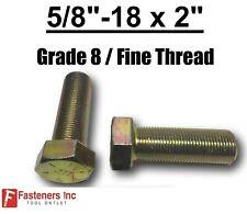 58 18 X 2 Ft Hex Bolt Yellow Zinc Plated Grade 8 Cap Screw Fine Thread