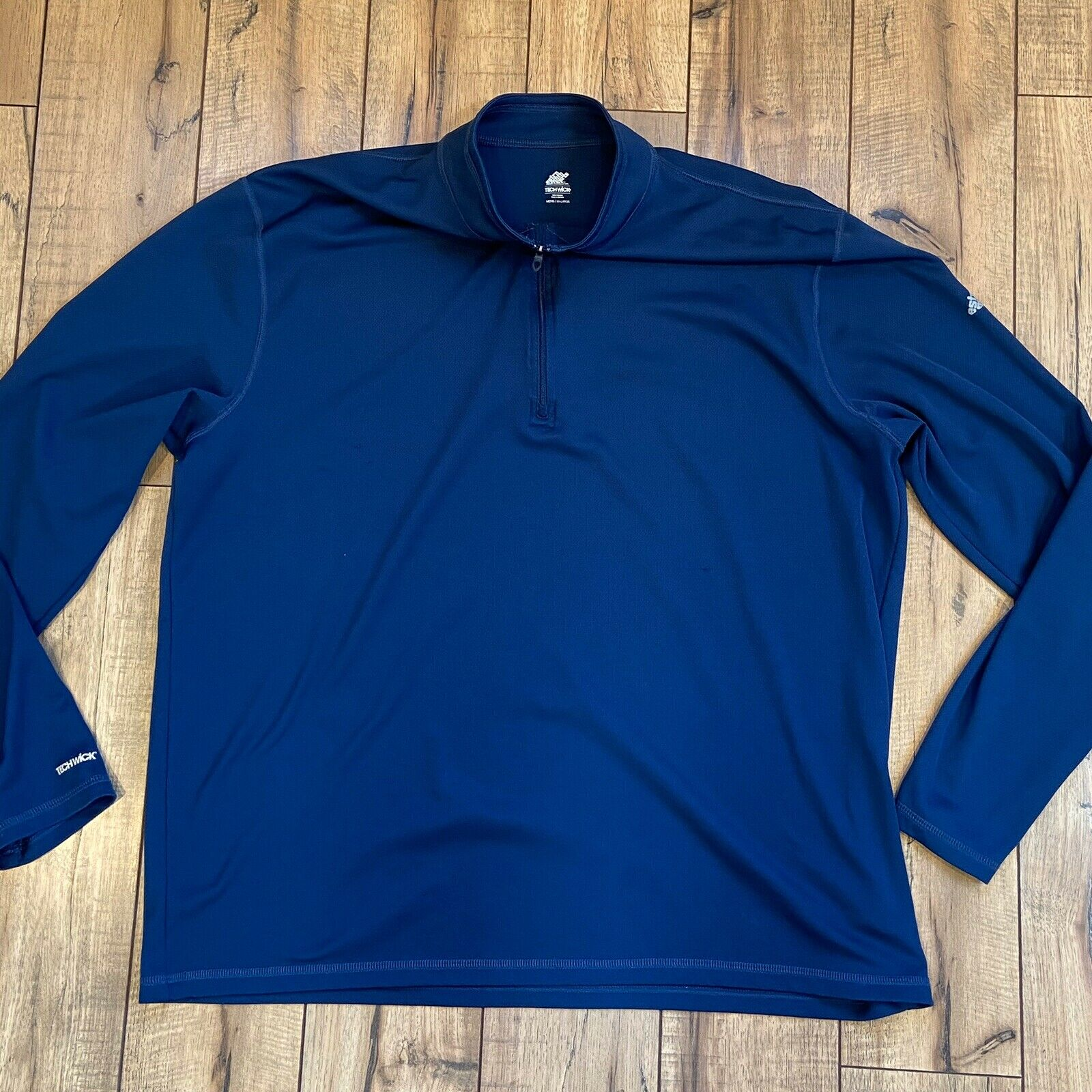 Eastern Mountain Sports EMS Techwick 1/4 zip Baselayer Blue Top Men's XXL