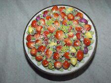 Antique Ormolu Porcelain German Elfinware Fruit Casket Box Dish Jar Bowl
