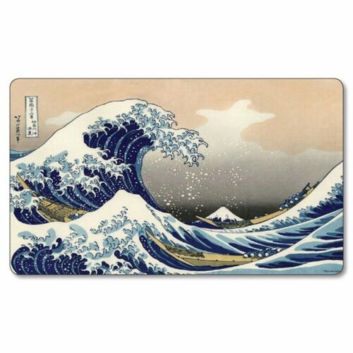 "MTG Magic The Great Wave off Kanagawa 24/""x14/"" 2mm Playmat"