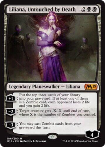 Magic 2019 Liliana Untouched by Death x1 English NM-Mint Magic 2019