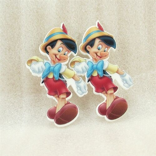 5 x 26MM PINOCCHIO LASER CUT FLAT BACK RESIN HAIR BOWS HEADBANDS CARD MAKING