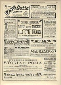 Stampa antica pubblicità ALLE CITTA' D'OLANDA e altro 1896 Old antique print