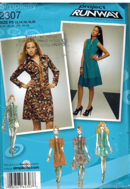 Project Runway Sewing Patterns Collection On Ebay
