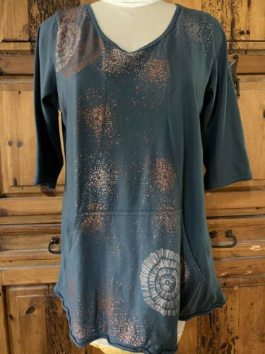 Blue Fish Clothing Pocket Top, Size 1, Lagenlook
