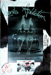 Jane-039-s-Addiction-signed-EARLY-Full-Sized-Nothings-Shocking-Poster-by-all-4-guys