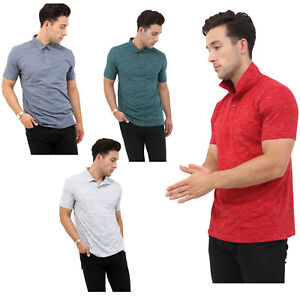 Mens-Polo-Shirts-Short-Sleeve-Pique-Slim-Fit-Summer-Sports-Casual-Tee-Tops-Size