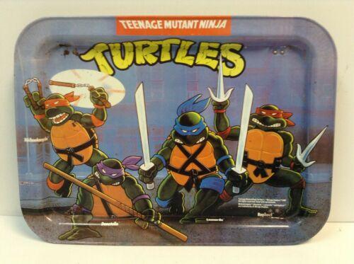 Dinner Tray TEENAGE MUTANT NINJA TURTLES Mirage Studios Vintage 1988 Collapsible