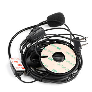 53e183160b092 Details about 2Pin Helmet Motorcycle Race Two Way Radio Headset Microphone  For Kenwood Baofeng