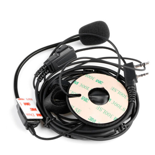 2Pin Helmet Motorcycle Race Two Way Radio Headset Microphone For Kenwood Baofeng