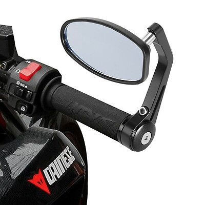 """7/8"""" Rear View Side Mirrors Handle Bar End For Motorcycle For Honda KTM Yamaha"""