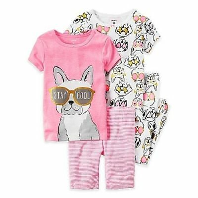 "Pink Carter/'s /""Stay Cool/"" Puppy Dog 4-Piece Pajamas Sleepwear Set 2T"