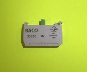 Normally Open Auxillary Contact Block Co44 1 X No Contactor 600v 10a BACO 33E10