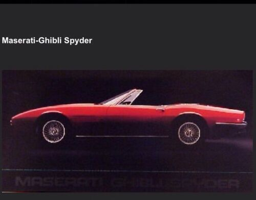 Maserati Ghibli Spyder Car Poster Own It! Extremely Rare /> Stunning