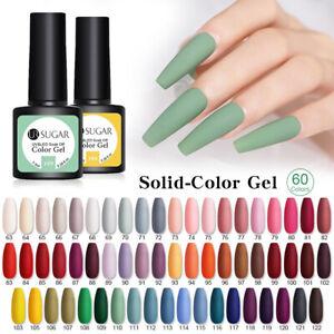 UR-SUGAR-7-5ml-Nagel-Gellack-Gel-Nail-Polish-Solid-Color-Soak-Off-Nail-Art-Gel