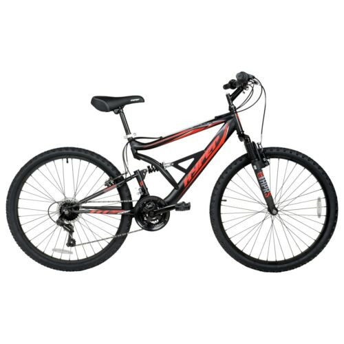 "Hyper 26/"" Shocker Men/'s Dual Suspension Mountain Bike Black"