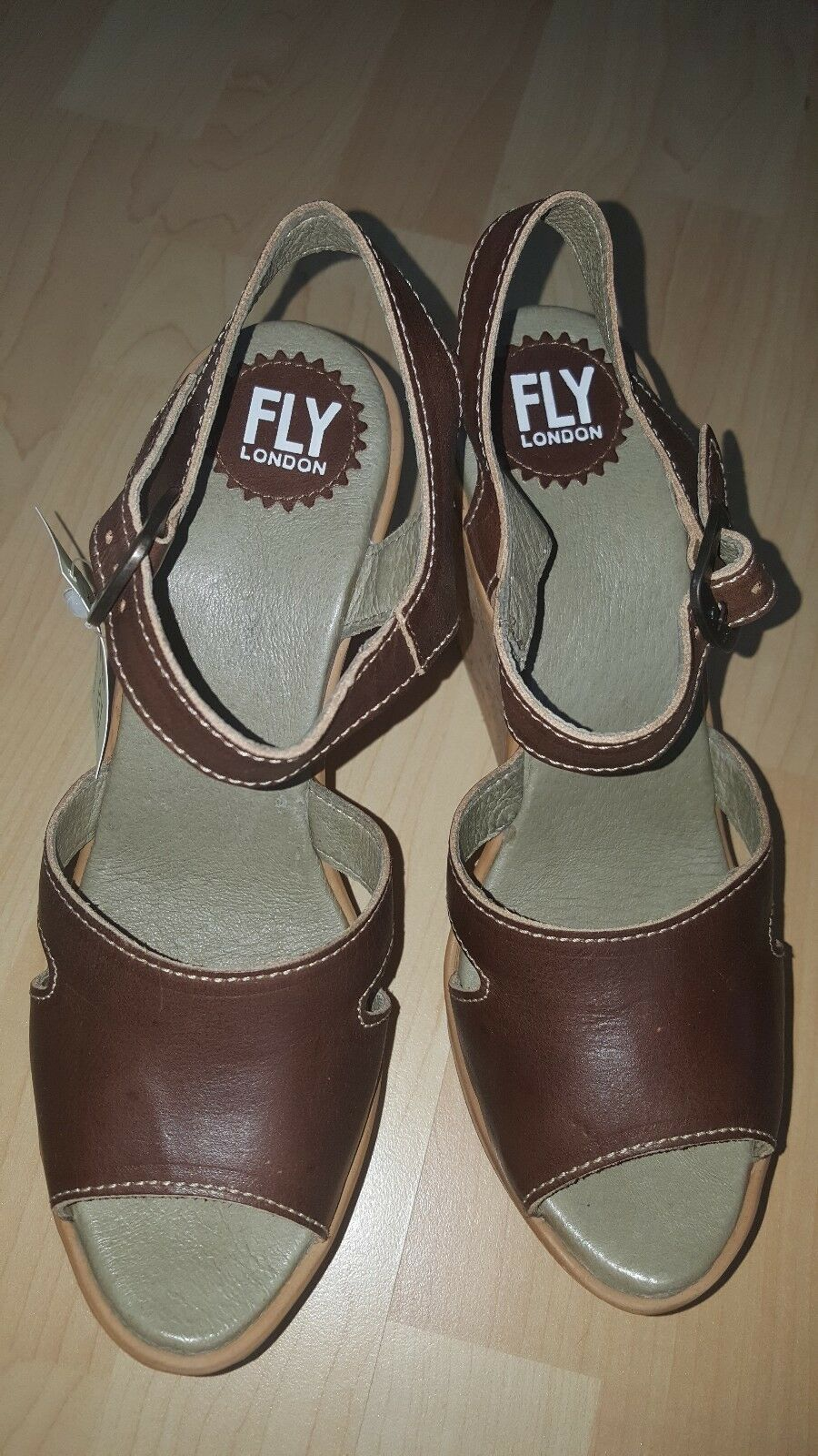 FLY WEDGE LONDON HULL978FLY LEATHER PLATFORM WEDGE FLY SANDALS UK 6 EUR 39 BNIB 30c930