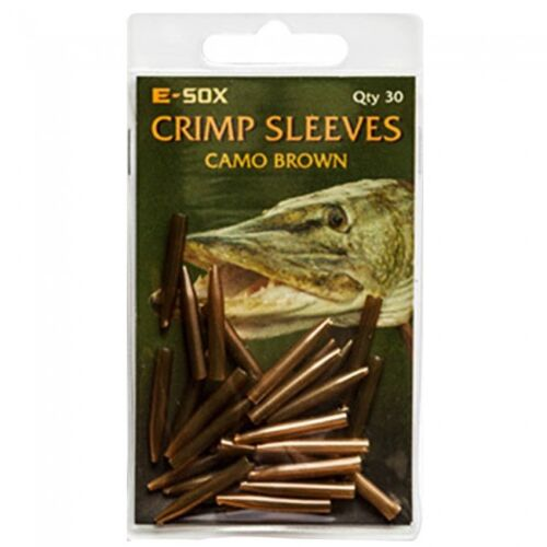 Drennan Crimp Sleeves Blood Red or Camo Brown 30pcs Tapered Sleeve Pike Fishing