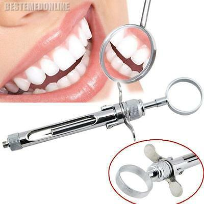 Dental Aspirating Syringe/Dentist Surgical Instruments Silver Steel Quality CE!!