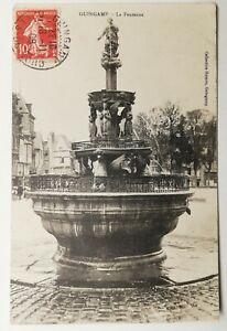 814-Antica-Cartolina-Guigamp-la-Fontana