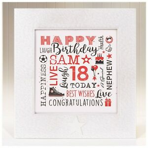 Image Is Loading Personalised Birthday Card Nephew 10 11 12th 13th
