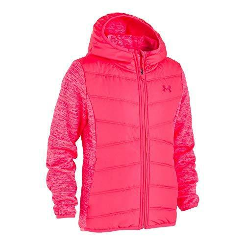 8//10 Medium Constellation Purple with Hood Under Armour Girls Big ColdGear Minaret Vista Hybrid Jacket
