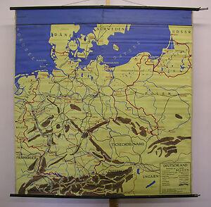 Stalingrad Karte Europa.Details Zu Schulwandkarte Wandkarte Wasserfest Karte Europe Europa Tischdecke 155x161 1960