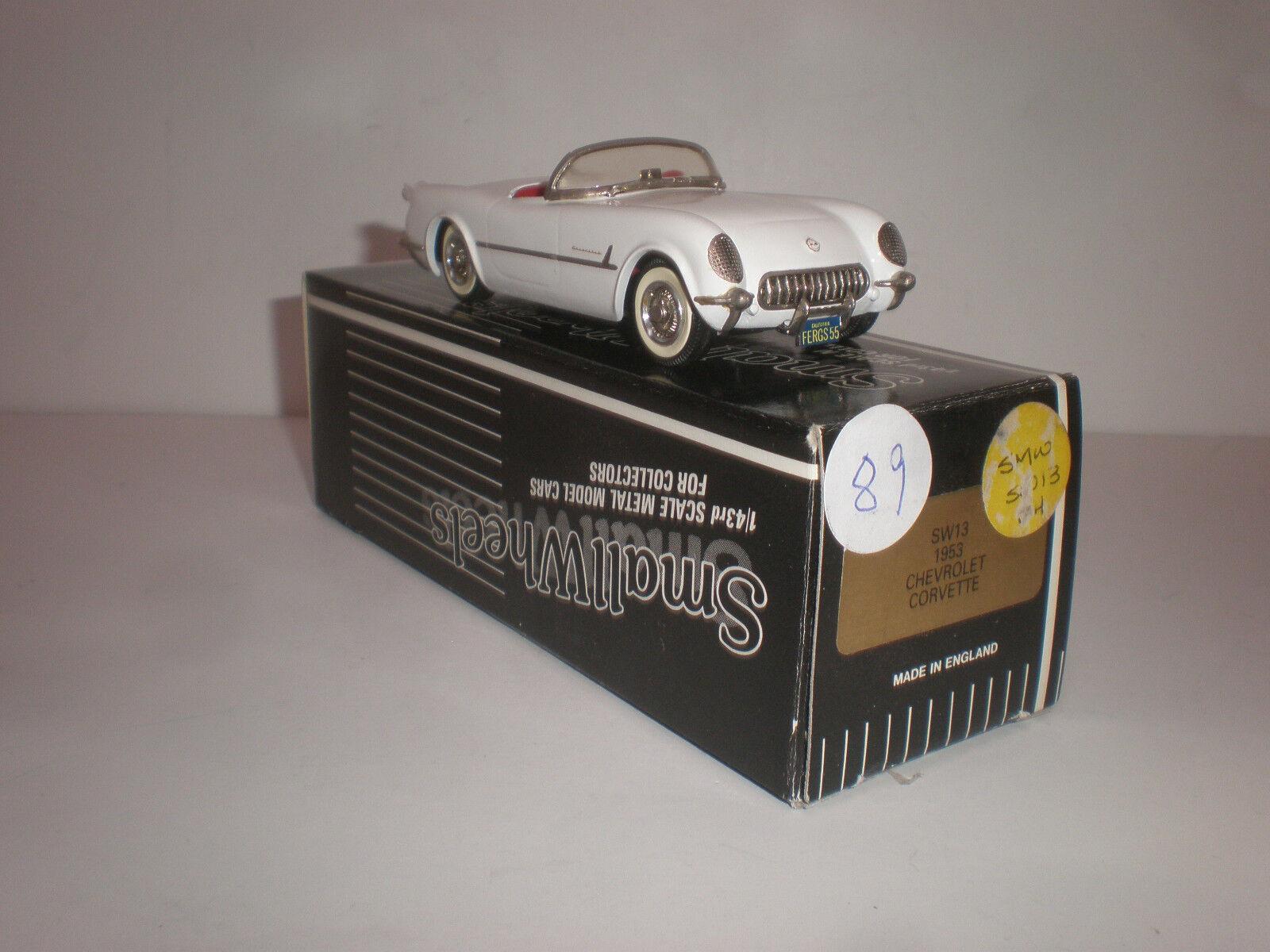 più economico 1 43 Smtutti Smtutti Smtutti Ruedas SW13  1953 Chevrolet Corvette  Very rare  risparmia fino al 70%