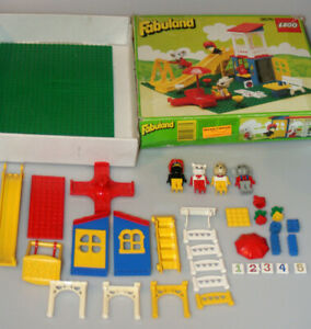 LEGO-Catherine-Cat-039-s-Fun-Park-Fabuland-3676-Retired-1989-Near-complete-in-Box