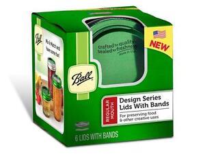 Ball-1440030010-Design-Series-Regular-Mouth-Jar-Lids-with-Bands-Green