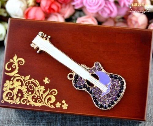 UNIQUE GUITAR Wood Jewelry Music Box  ♫  Love Me Tender Elvis Presley ♫