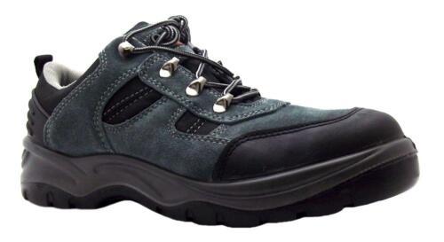 Chaussures industrielles ss611sm Cuir Gris Noir Chaussure de Sécurité Taille 7