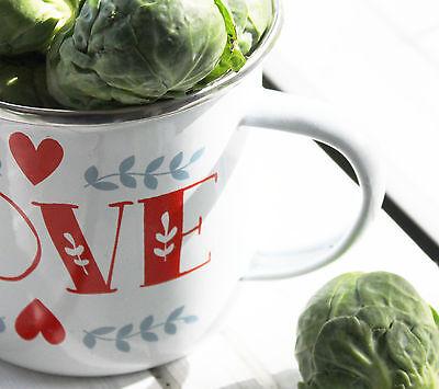 CHIC CAMPING LOVE HEART TIN ENAMEL MUG CUP CAMPING SHABBY GLAMPING WEDDING