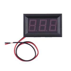 """0.56/""""LED Red 2-Wire Voltmeter Digital Voltage AC70-500V Panel Volt Ammeter Meter"""